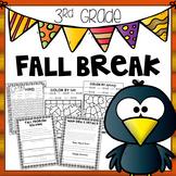 Fall Break Packet - Third Grade