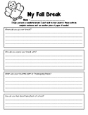 Fall Break Journal Entry