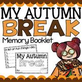 Fall Break Memory Booklet