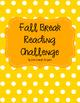 Fall Break Reading Challenge
