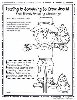 School Break / Holiday Reading Homework Challenges: Fall and Thanksgiving Breaks