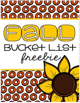 Fall Bucket List Freebie {#TeacherMom}