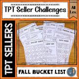 Fall Bucket List TPT Seller Challenges