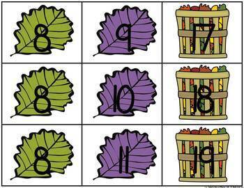 Fall Build 2 Addend 0-20 Addition & Subtraction Number Sentences