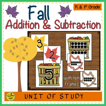 Fall Build 2 Addend Addition or Subtraction Sentences With Ten Frames