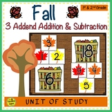 Fall Build 3 Addend Addition & Subtraction Number Sentences