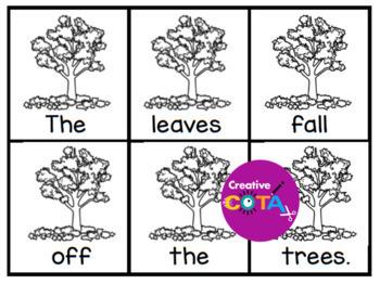 Fall Build a Sentence Scramble