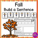Fall Writing Build a Sentence Scramble