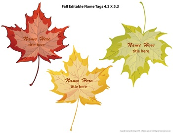 Fall Classroom Theme bulletin borders, editable tags, banner, & sign