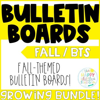 Be Positive! Promote a Positive Classroom! Fall Crafts and Bulletin Boards!