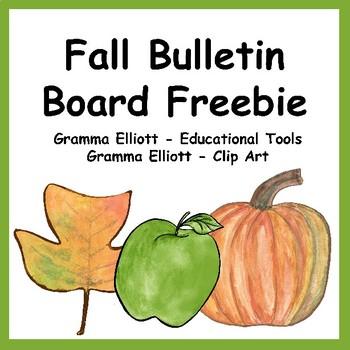 Free Fall Bulletin Board Kit