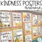 Fall Posters Bulletin Board   Autumn Kindness Rules Display