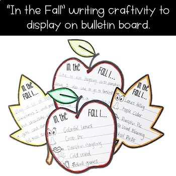 Fall Bulletin Board Kit - 5 Senses Writing Activity