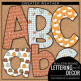 Fall Bulletin Board Lettering, Pennant Banners and Borders