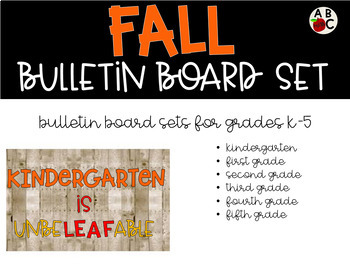 Fall Bulletin Board Set