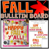 Fall Bulletin Board Template