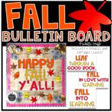 Fall Bulletin Board Template