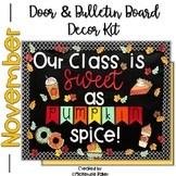 Fall Bulletin Board or Door Decor Kit