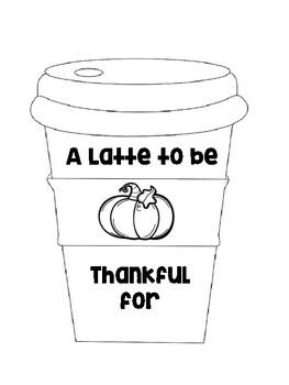 Fall Bulletin Latte Writing