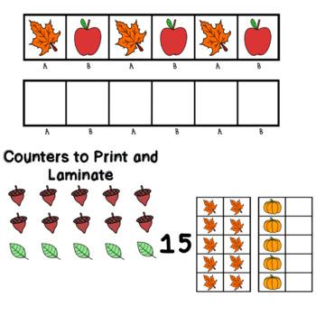 Fall Bundle - Addition, Patterns, Tens Frames, CVC words, Alphabet