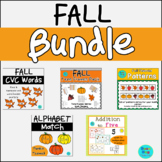 Fall Bundle - Addition, Patterns, Tens Frames, CVC words,