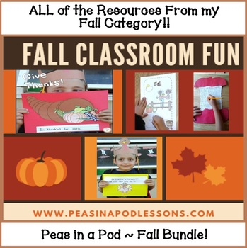 Fall Autumn Bundle All of the Resources from my Fall Category K, 1st, & 2nd