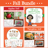 Fall Bundle - Apple Unit, Pumpkin Unit, Fall Literacy & Ma
