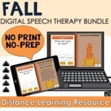 Fall Bundle - Digital Speech Therapy Activities