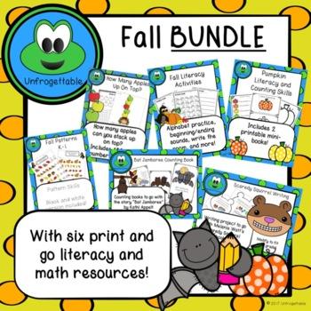 Fall Bundle - Literacy and Math K-2