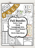 Fall Bundle: language arts, numbers, decorative banner and more