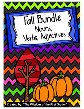 Fall Bundle:  Nouns, Verbs, Adjectives