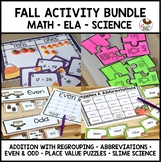 Fall Bundle Place Value Abbreviations Slime Science Addition Even and Odd