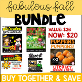 Fall Bundle (Pumpkins, Halloween, Spider, Fall Morning Messages, & Apples) K-2