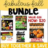 Fall Bundle (Pumpkins, Halloween, Spider, Fall Morning Messages, & Apples) K-2