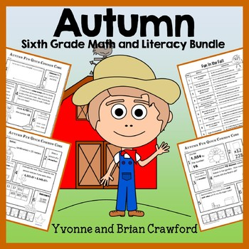Fall Bundle for 6th Grade Endless