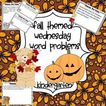 Fall Bundle of Wednesday Word Problems