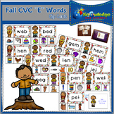 "Fall CVC ""E"" Words Clip Cards"