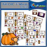 """Fall CVC """"I"""" Words Clip Cards"""