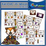 """Fall CVC """"O"""" Words Clip Cards"""