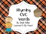 Fall CVC Rhyming Words
