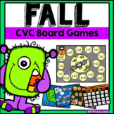 Fall CVC Roll & Read Board Games (phonics, short vowels, a, e, i, o u)