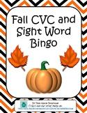 Fall CVC Sight Word Bingo