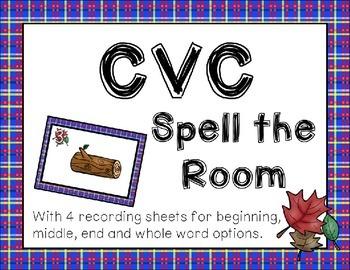 Fall CVC Spell the Room