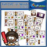 "Fall CVC ""U"" Words Clip Cards"