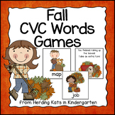 Fall CVC Word Games Bundle