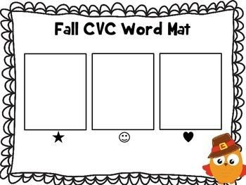 Fall CVC Word Making