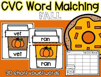 Fall CVC Word Matching