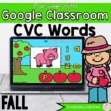 Fall CVC Words Activity for Google Classroom