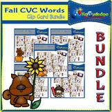 Fall CVC Words Clip Card BUNDLE