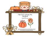 Fall CVC Words for Apraxia